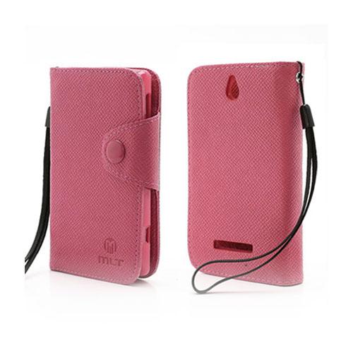 MLT (Hot Pink) Sony Xperia E Læder etui