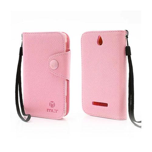 MLT (Pink) Sony Xperia E Læder etui
