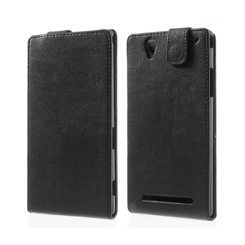 Image of   Beta (Sort) Sony Xperia T2 Ultra Læder Flip Etui