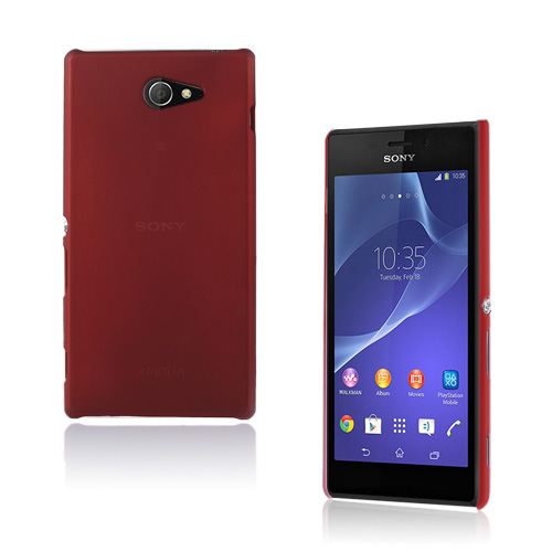 Hard Shell (Rød) Sony Xperia M2 Cover