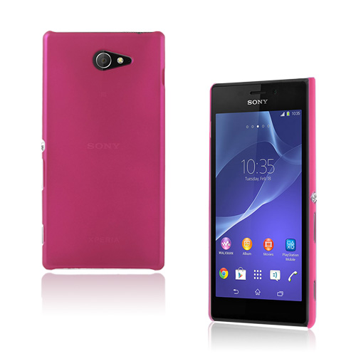 Hard Shell (Hot Pink) Sony Xperia M2 Cover