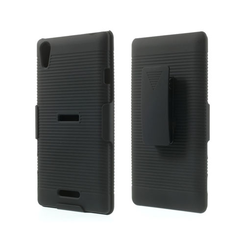 Image of   Belt Clip (Sort) Sony Xperia T3 Holster Stand Cover