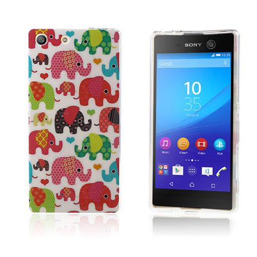Image of   Blankt elastisk TPU cover til Sony Xperia M5 / M5 Dual - Nuttede elefanter