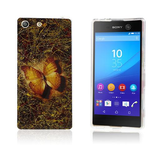Image of   Blankt elastisk TPU cover til Sony Xperia M5 / M5 Dual - Livstro sommerfugl