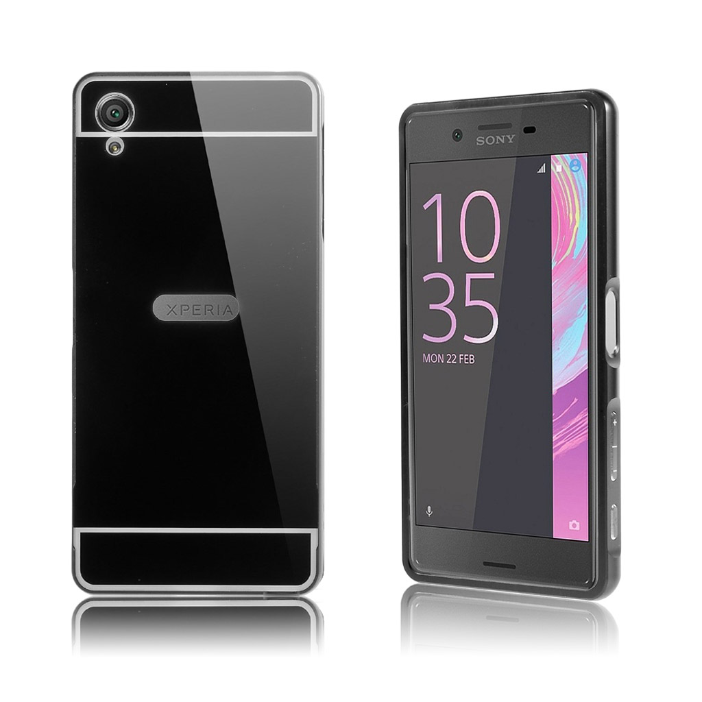 Image of   Ulrich slide-on metalcover til Sony Xperia X - Sort