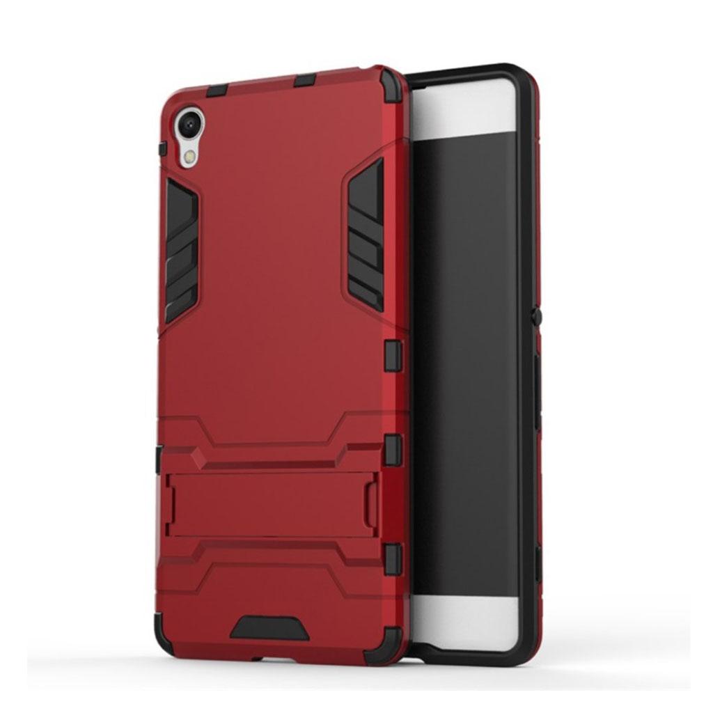 Sony Xperia XA stærkt hybridcover med kickstand - Rød