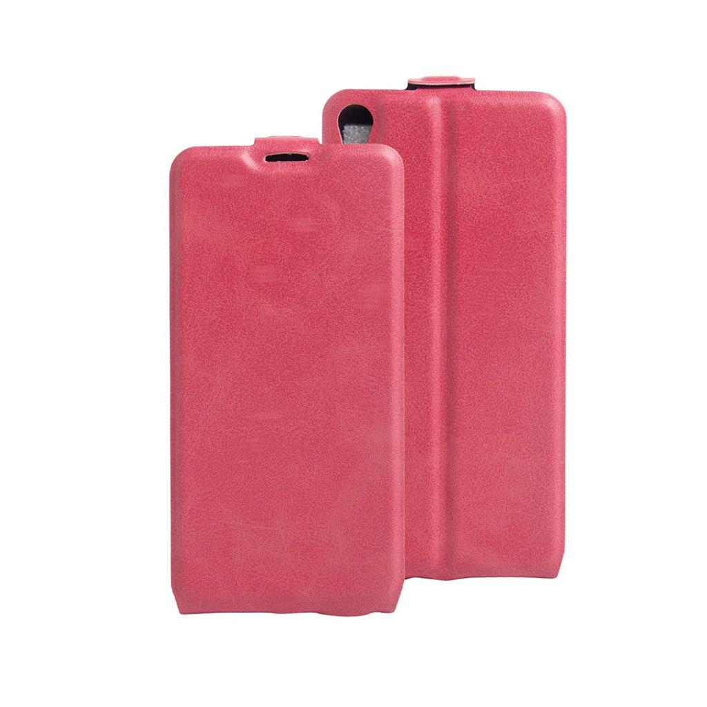 Image of   Amdrup vertikalt flip-etui i læder til Sony Xperia E5 - Hot Pink