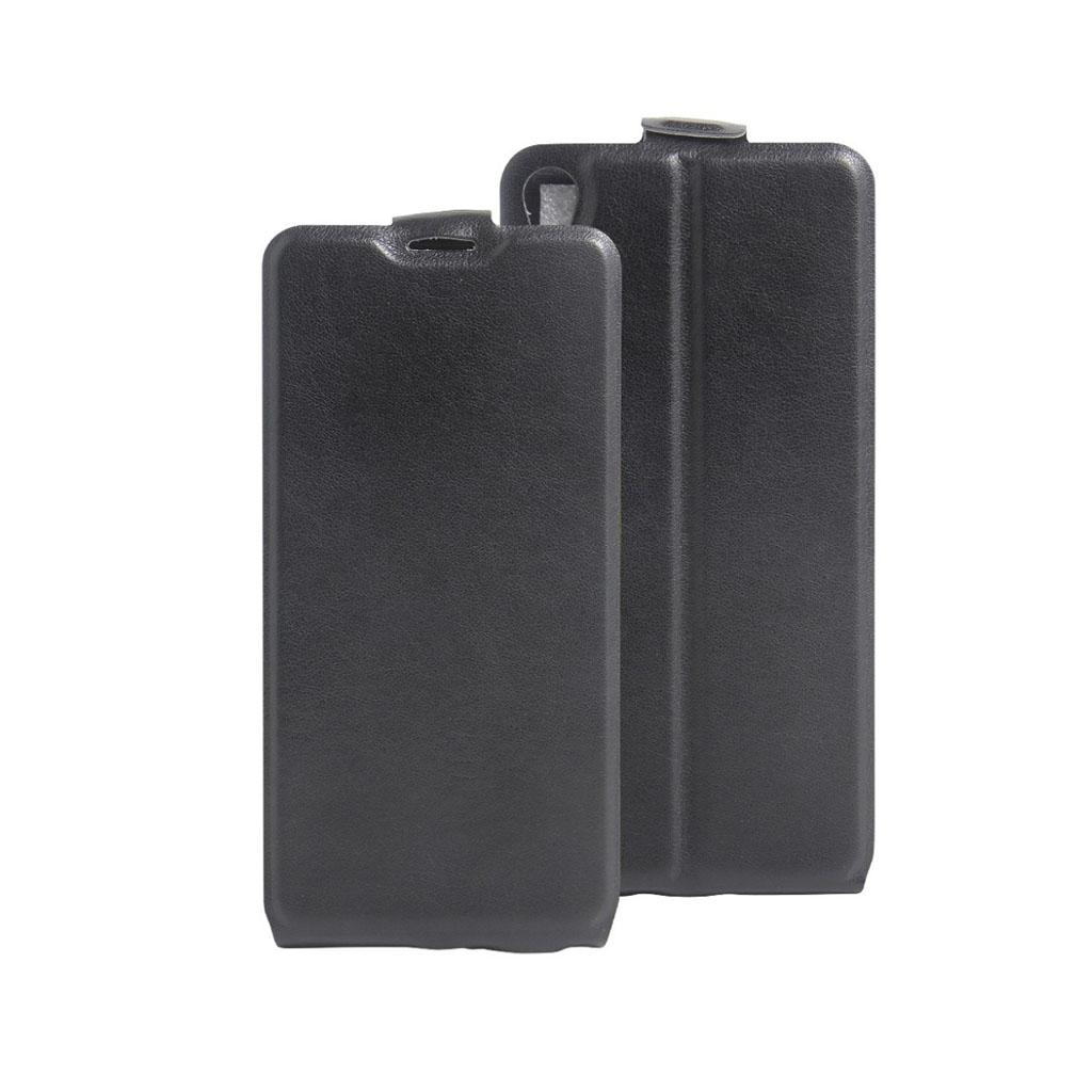 Image of   Amdrup vertikalt flip-etui i læder til Sony Xperia E5 - Sort