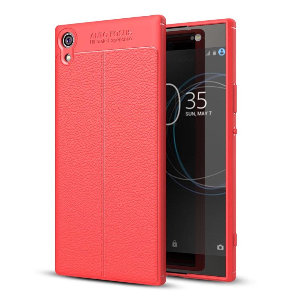 Sony Xperia XA1 Læderbelagt etui - Rød