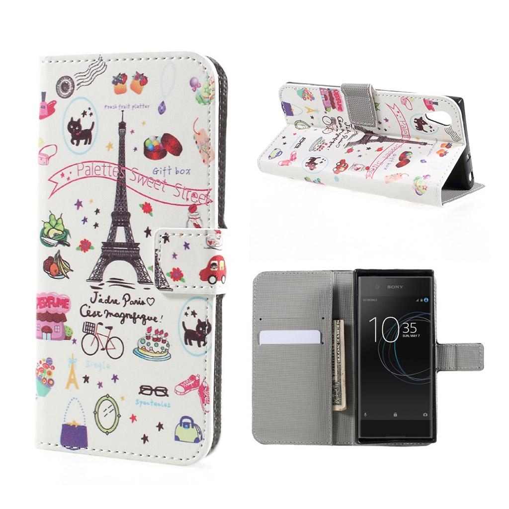 Image of   Sony Xperia XA1 Etui med unik tryk - Paris palette