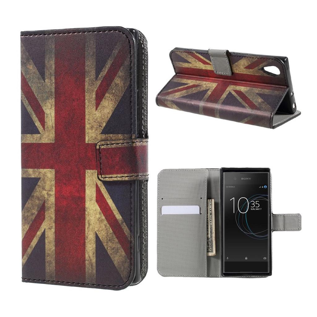 Image of   Sony Xperia XA1 Etui med unik tryk -Retro UK flag