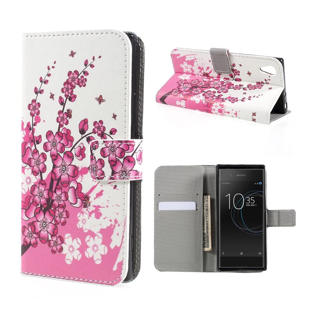Image of   Sony Xperia XA1 Etui med unik tryk - Fersken blomst