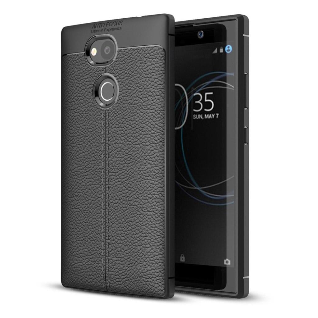Sony Xperia L2 cover i silikone - Sort
