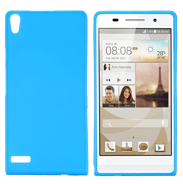 GelCover (Lyseblå) Huawei Ascend P6 Cover