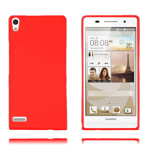 GelCover (Rød) Huawei Ascend P6 Cover