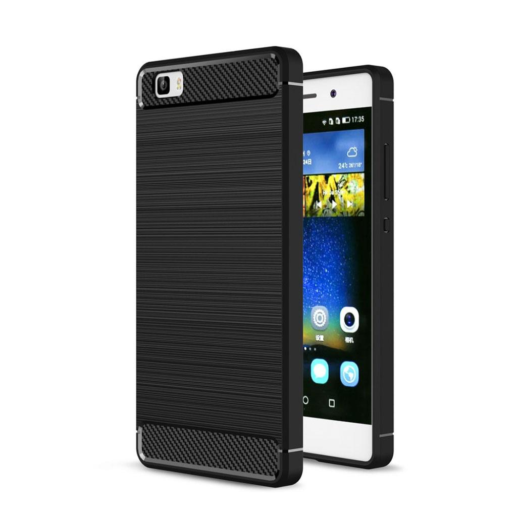 Huawei P8 Lite smart og beskyttende hybridcover - Sort
