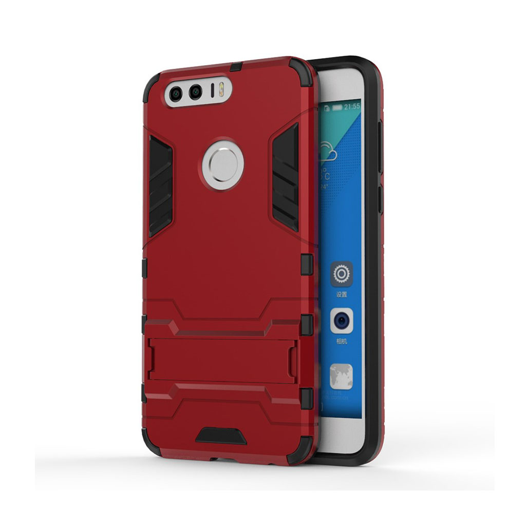 Hårderåde Huawei Honor 8 Solid PC + TPU Cover - Dark Red