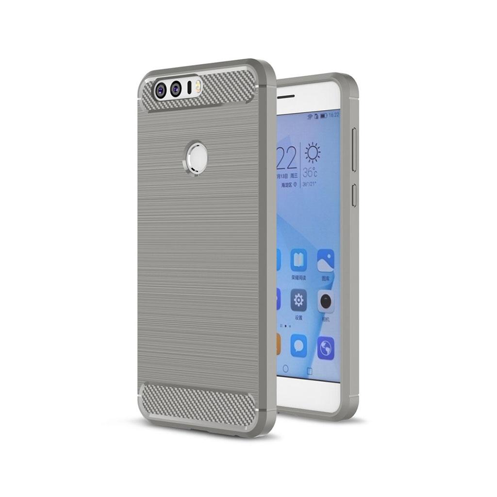 Huawei Honor 8 børstet siliconecover - Grå