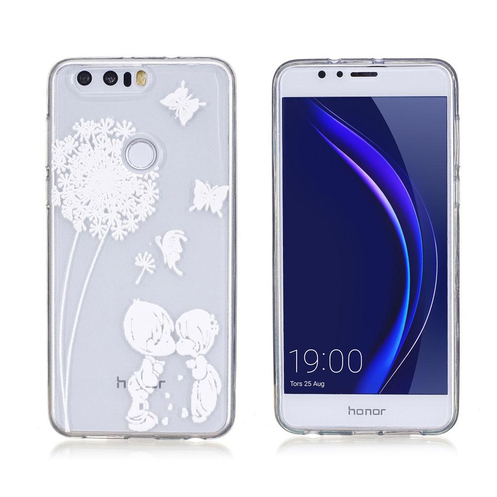 Huawei Honor 8 beskyttende silikonecover - Mælkebøtte og sødt par