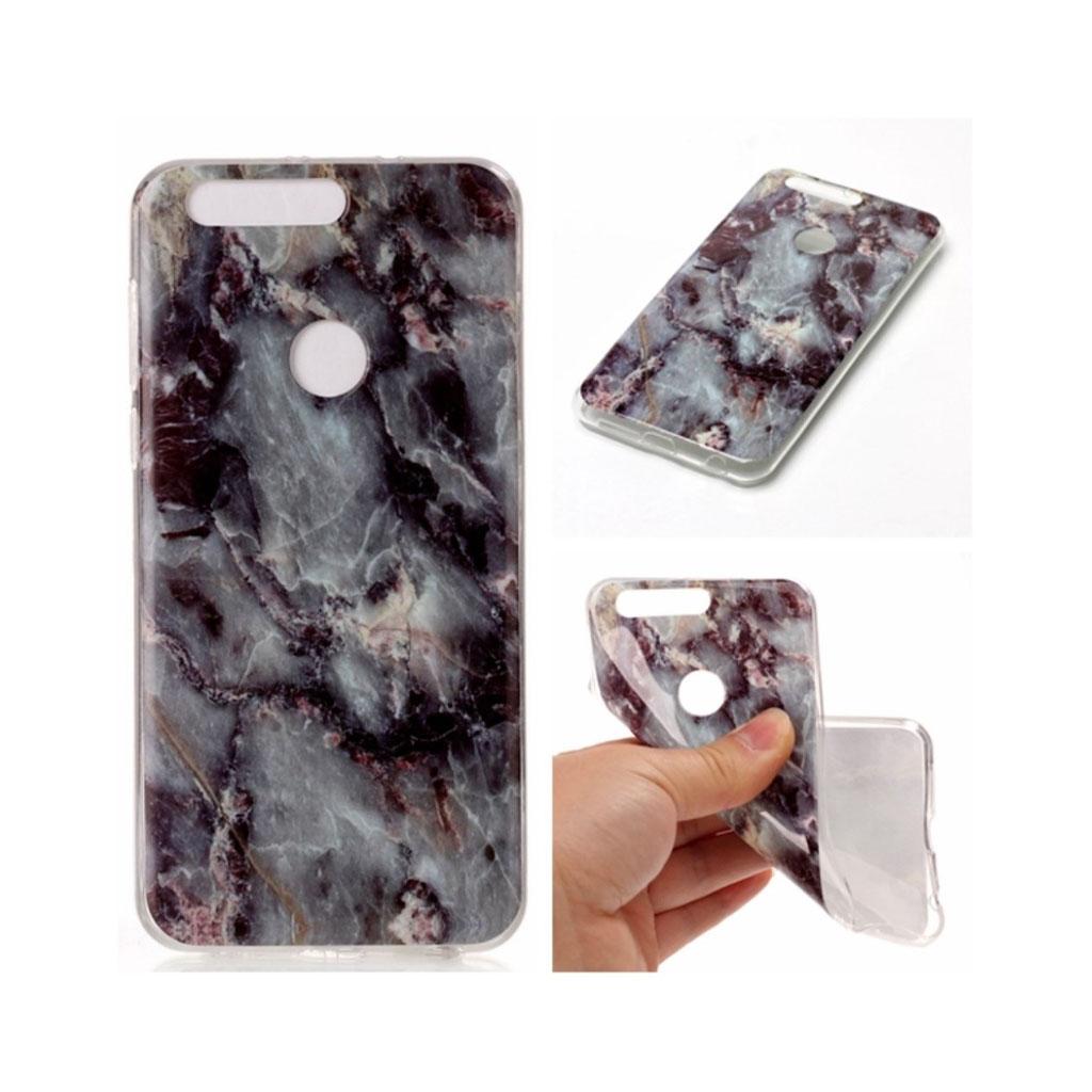 Huawei Honor 8 IMB marble pattern TPU case - Black Blue