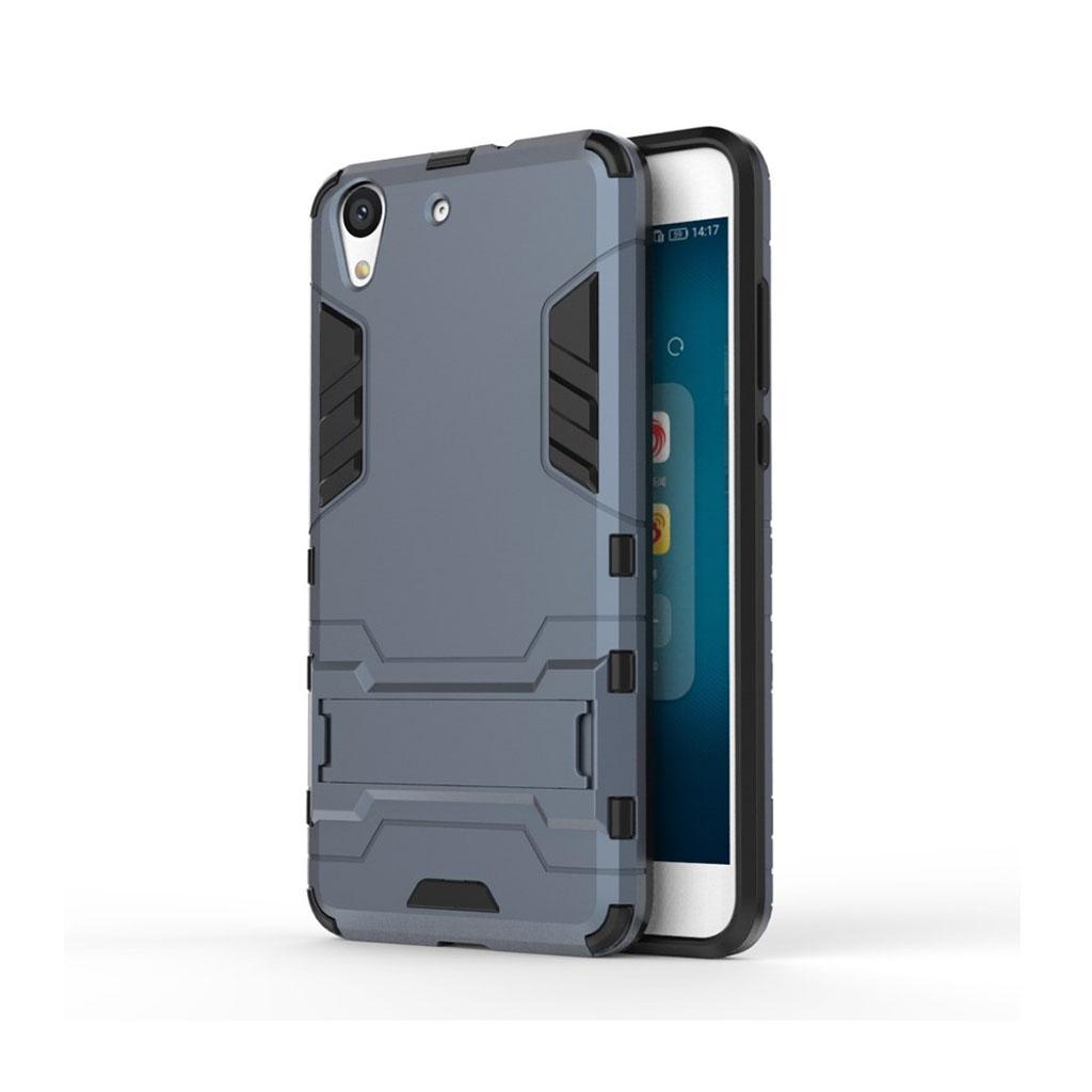 Huawei Y6 II børstet hybridcover - Mørkeblå
