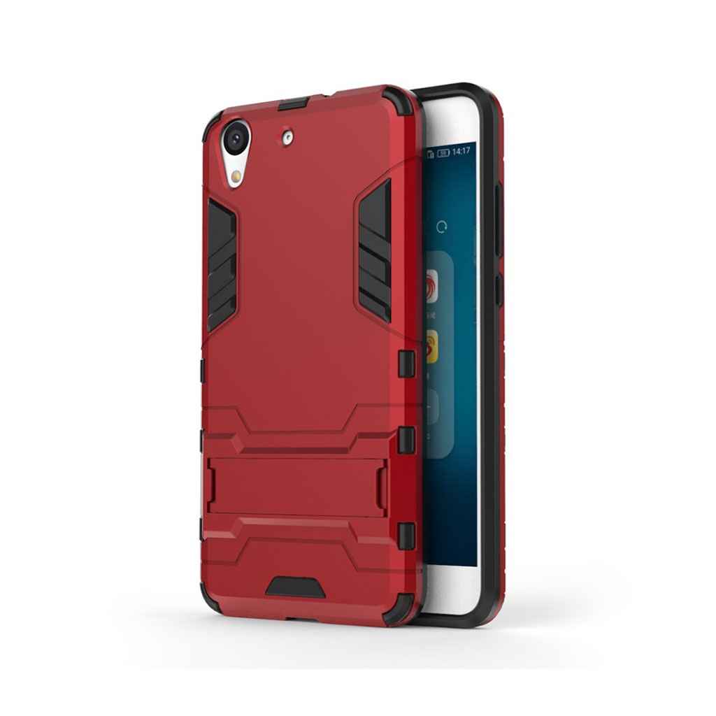 Huawei Y6 II børstet hybridcover - Rød