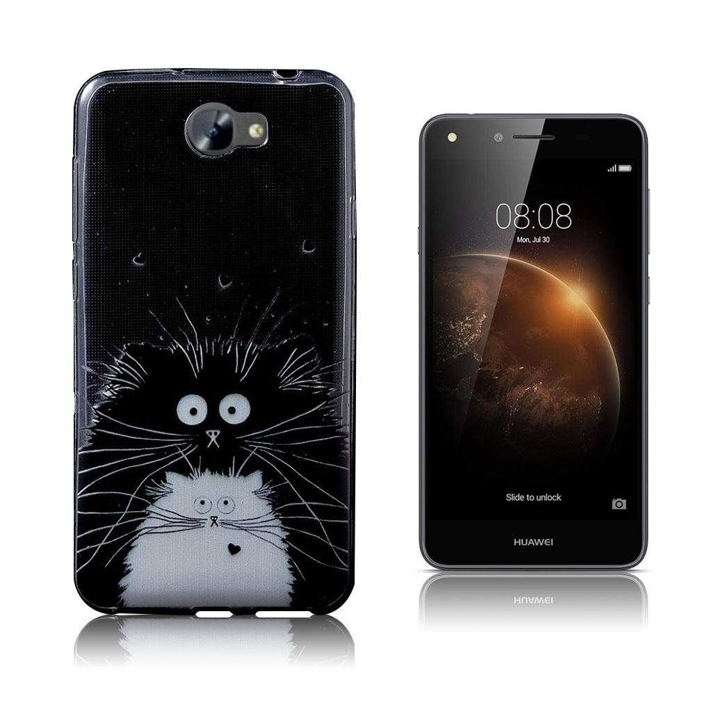 Image of   Huawei Y6II Compact smart silikonecover - Søde dyr