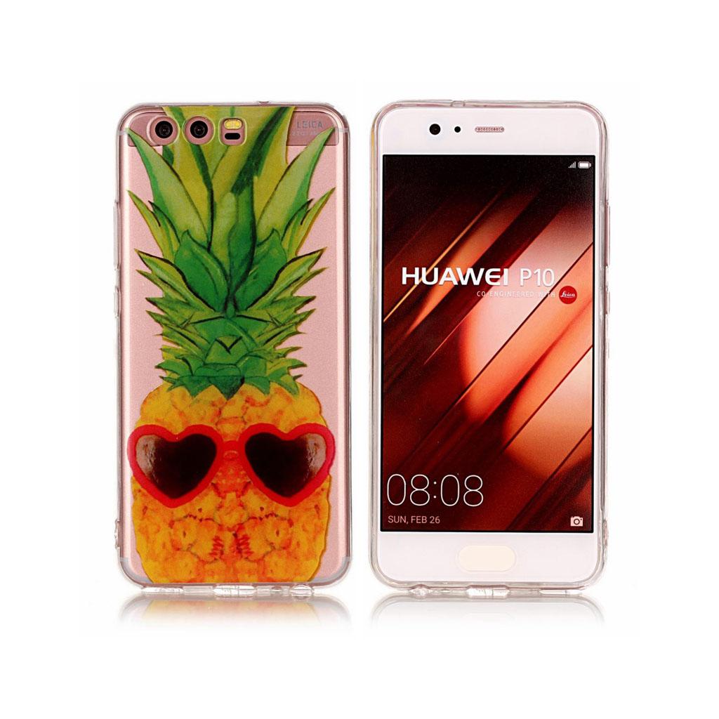 Huawei P10 Cover med unik print - Ananas mønster