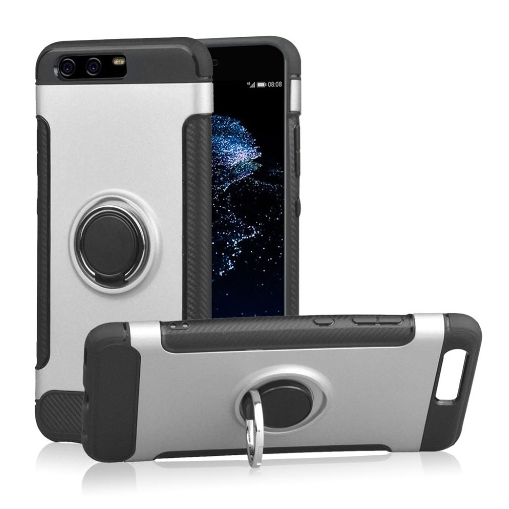 Image of   ANGIBABE Huawei P10 carbon fiber texture case - Silver