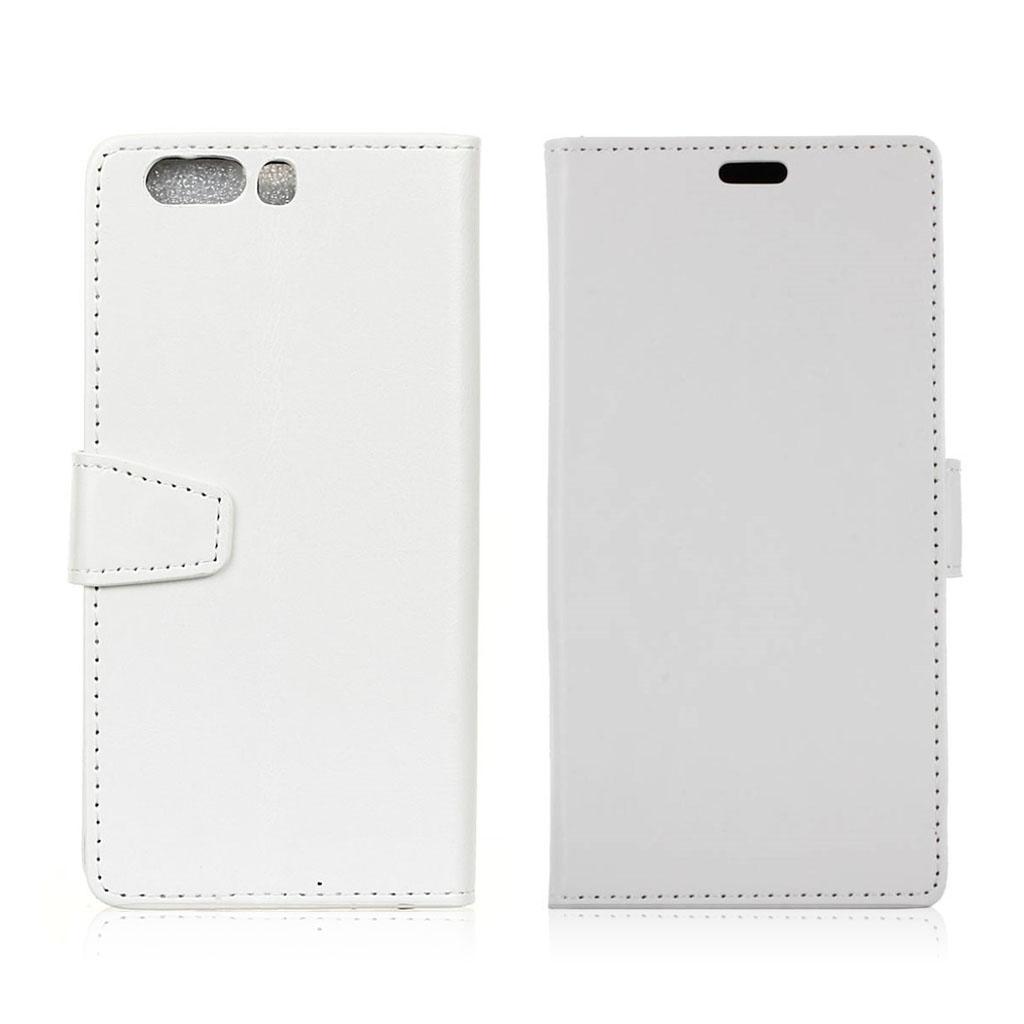 Huawei P10 Plus Beskyttende og stilfuldt læder etui - Hvid