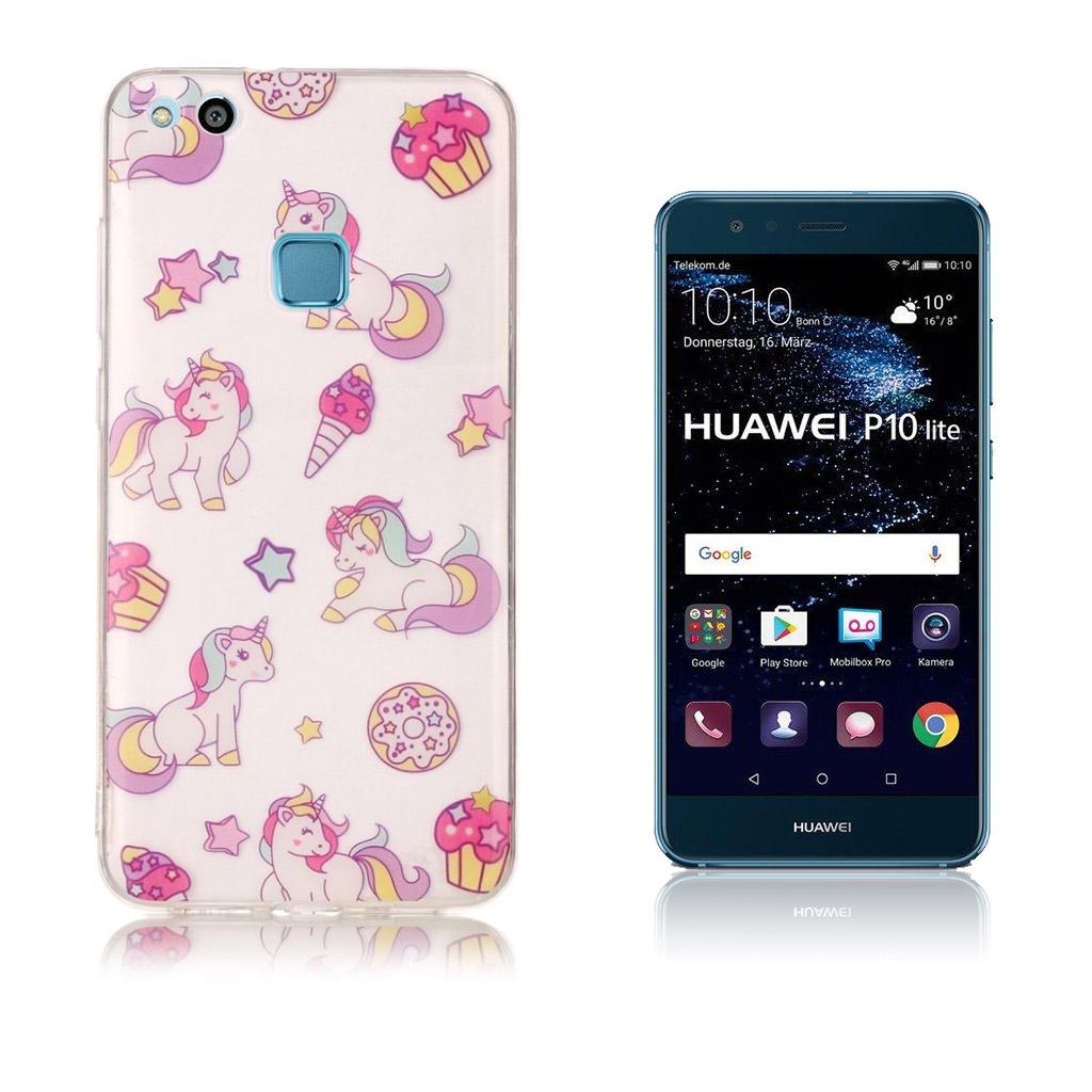 Huawei P10 Lite Smart og brugernemt cover - Små enhjørninger