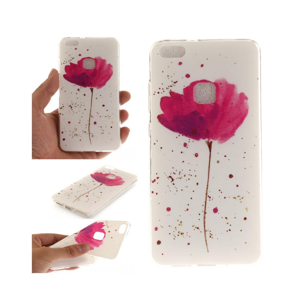 Huawei P10 Lite Lækkert fleksibel cover - Frisk blomst