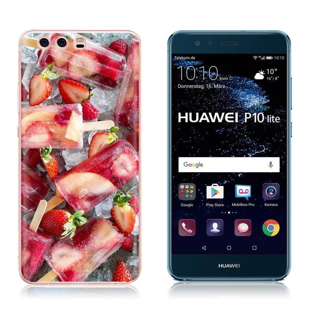 Huawei P10 Lite Ultra cool og robust cover - Jordbær is