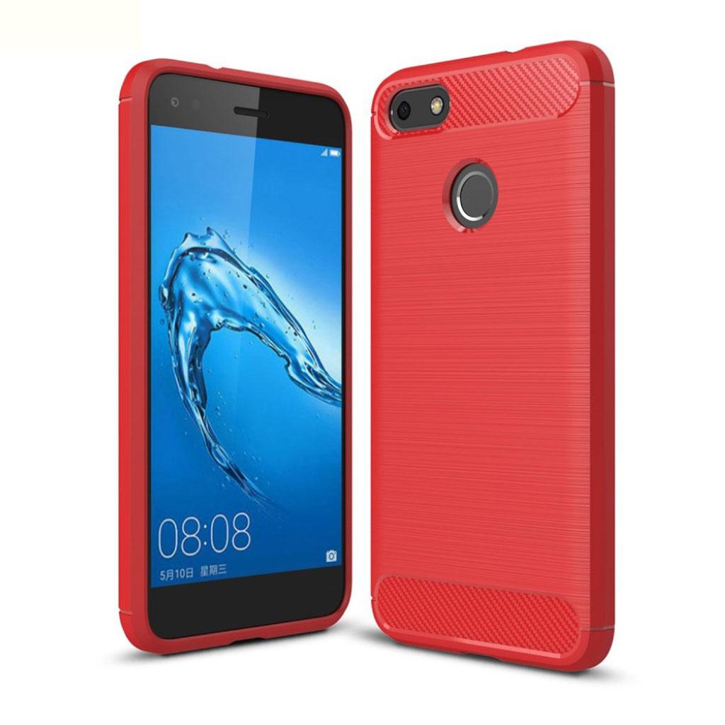 Huawei P9 Lite Mini Cover med børsted overflade - Rød