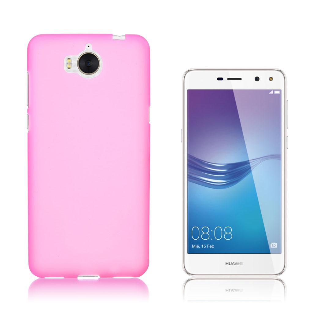 Huawei Y6 (2017) Matteret silikone cover - Rosa