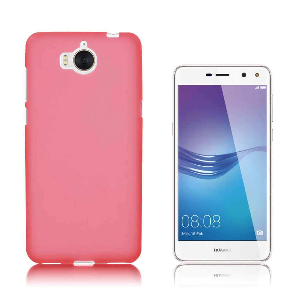 Huawei Y6 (2017) Matteret silikone cover - Rød