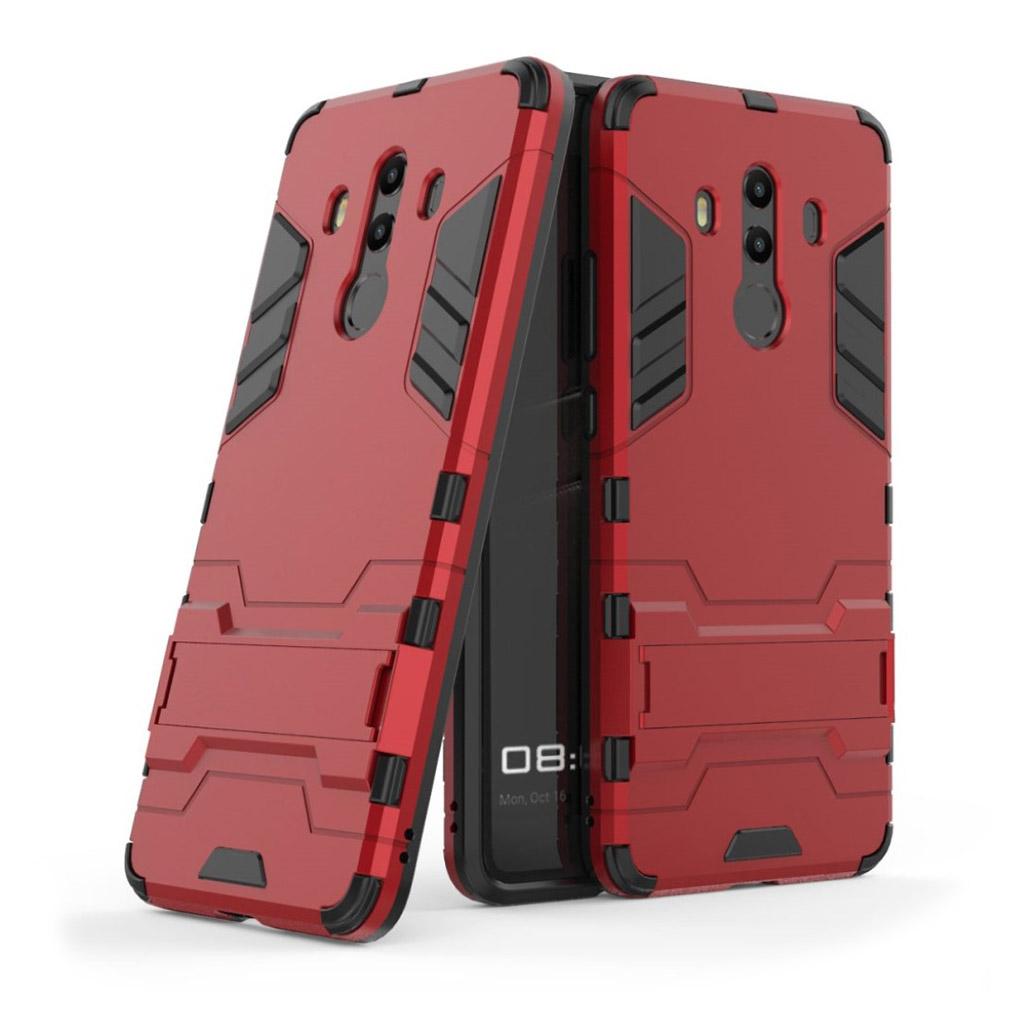 Huawei Mate 10 Pro Plastik cover med kickstand - Rød