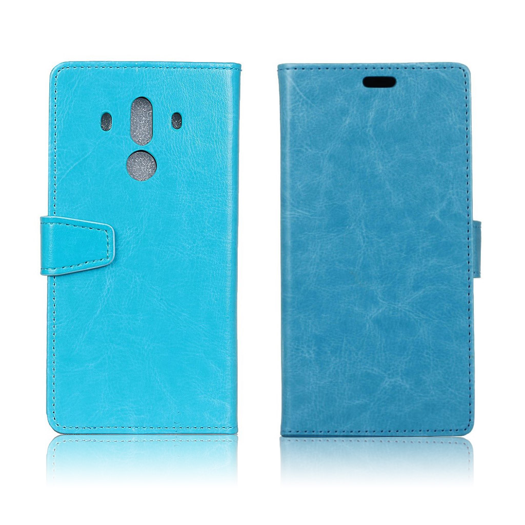 Huawei Mate 10 Pro Læder etui med magnet lås - Blå