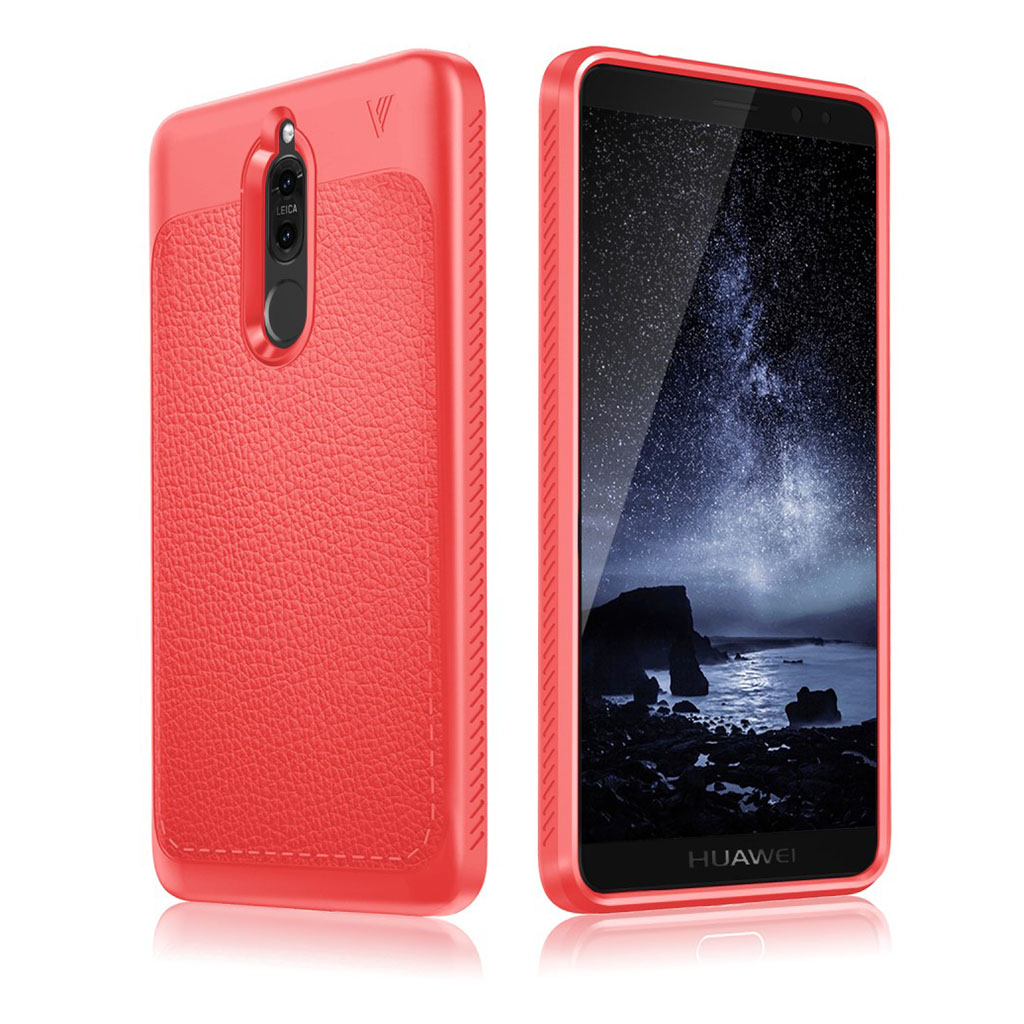 IVSO Huawei Mate 10 Lite læder belagt etui - Rød