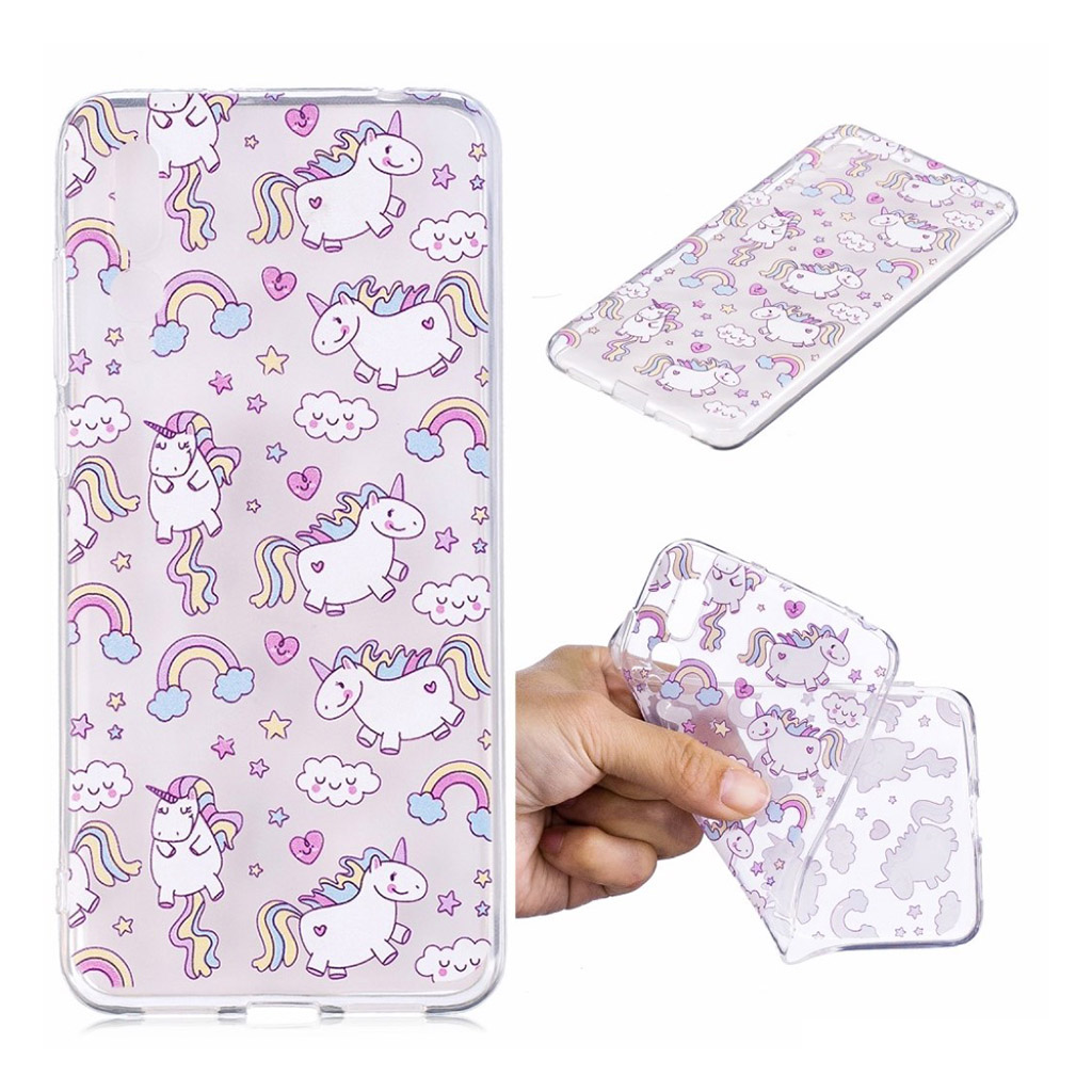 IMD Huawei P20 Pro pattern printing case - Lovely Unicorns