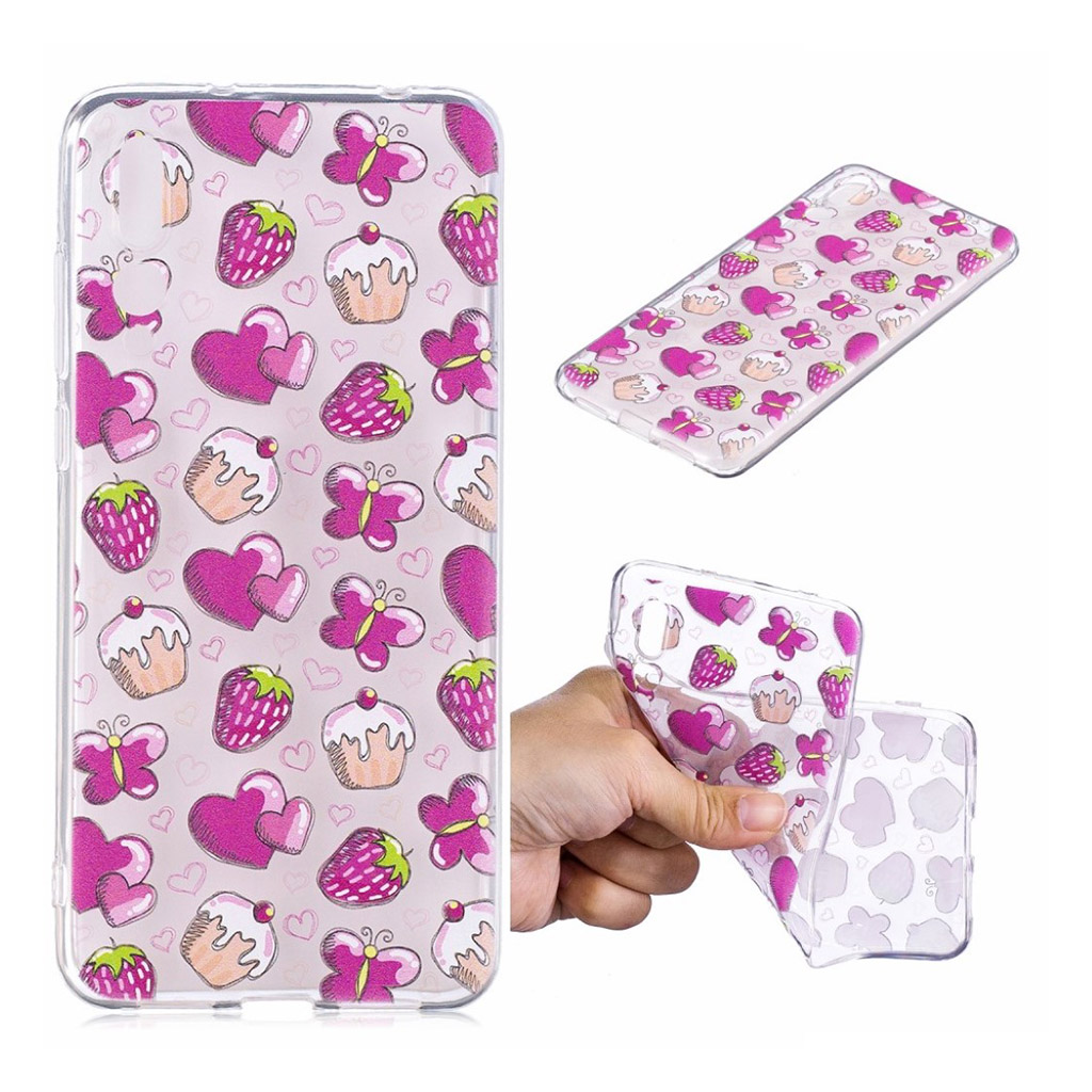 IMD Huawei P20 Pro pattern printing case - Cake and Strawberry