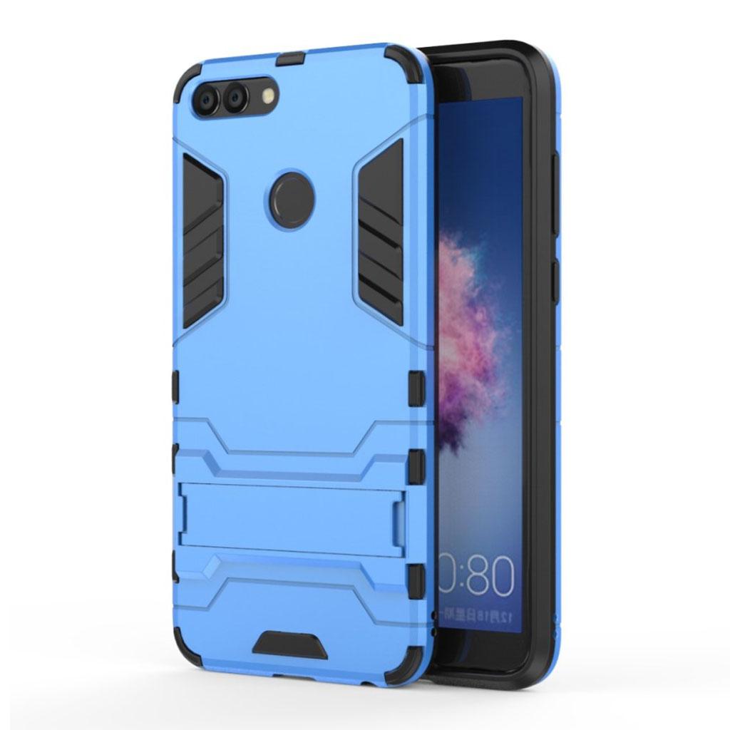 Huawei P Smart hi-tech cover i med kickstand - Blå