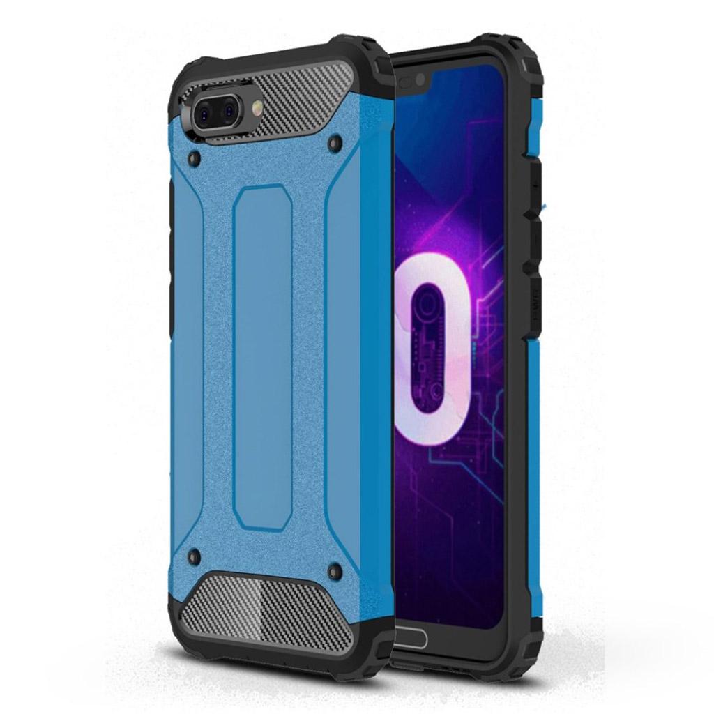 Huawei Honor 10 beskyttelsesetui i kombi-materialer med hård plastikskal - Baby Blå