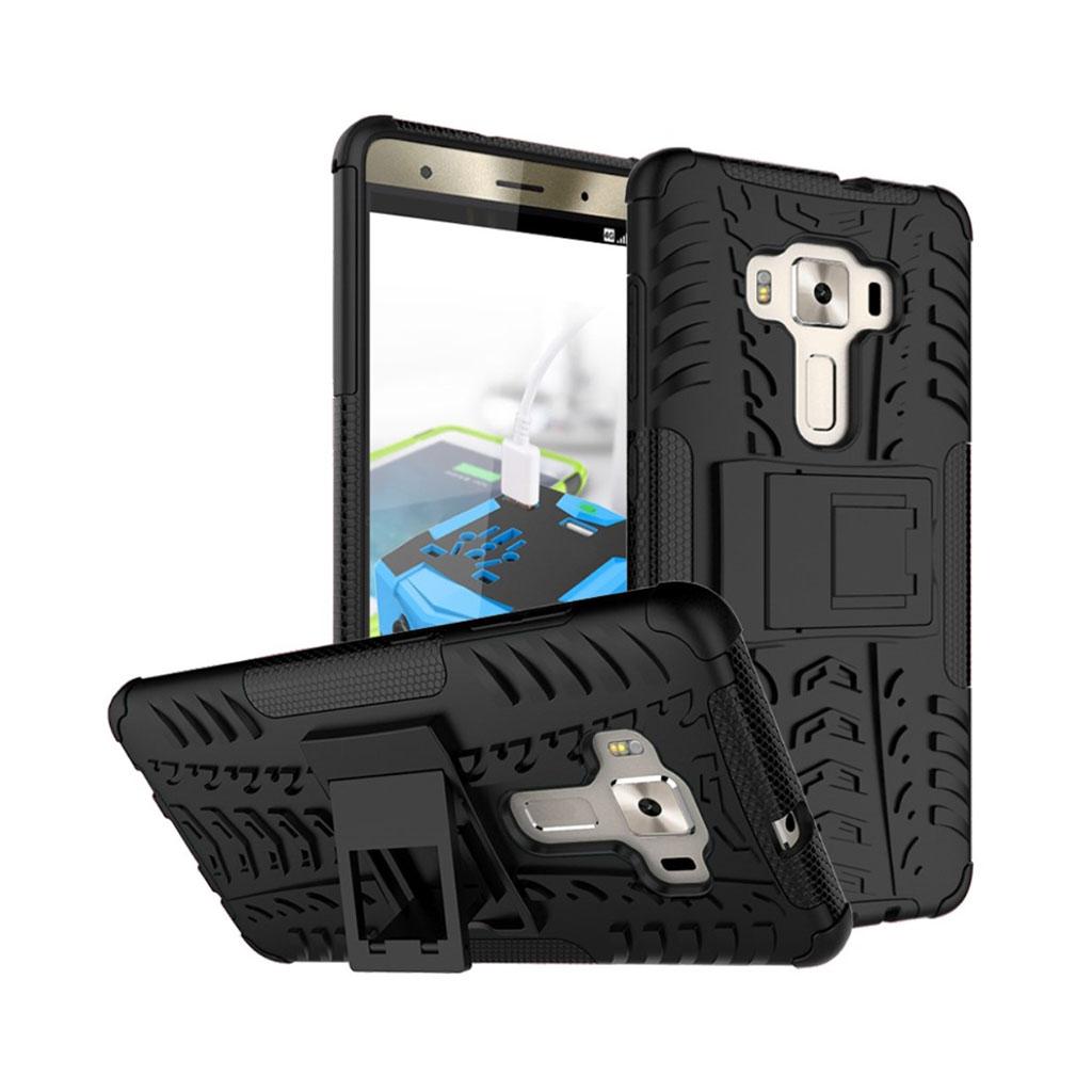 Asus Zenfone 3 Deluxe (ZS570KL) stærkt hybridcover - Sort