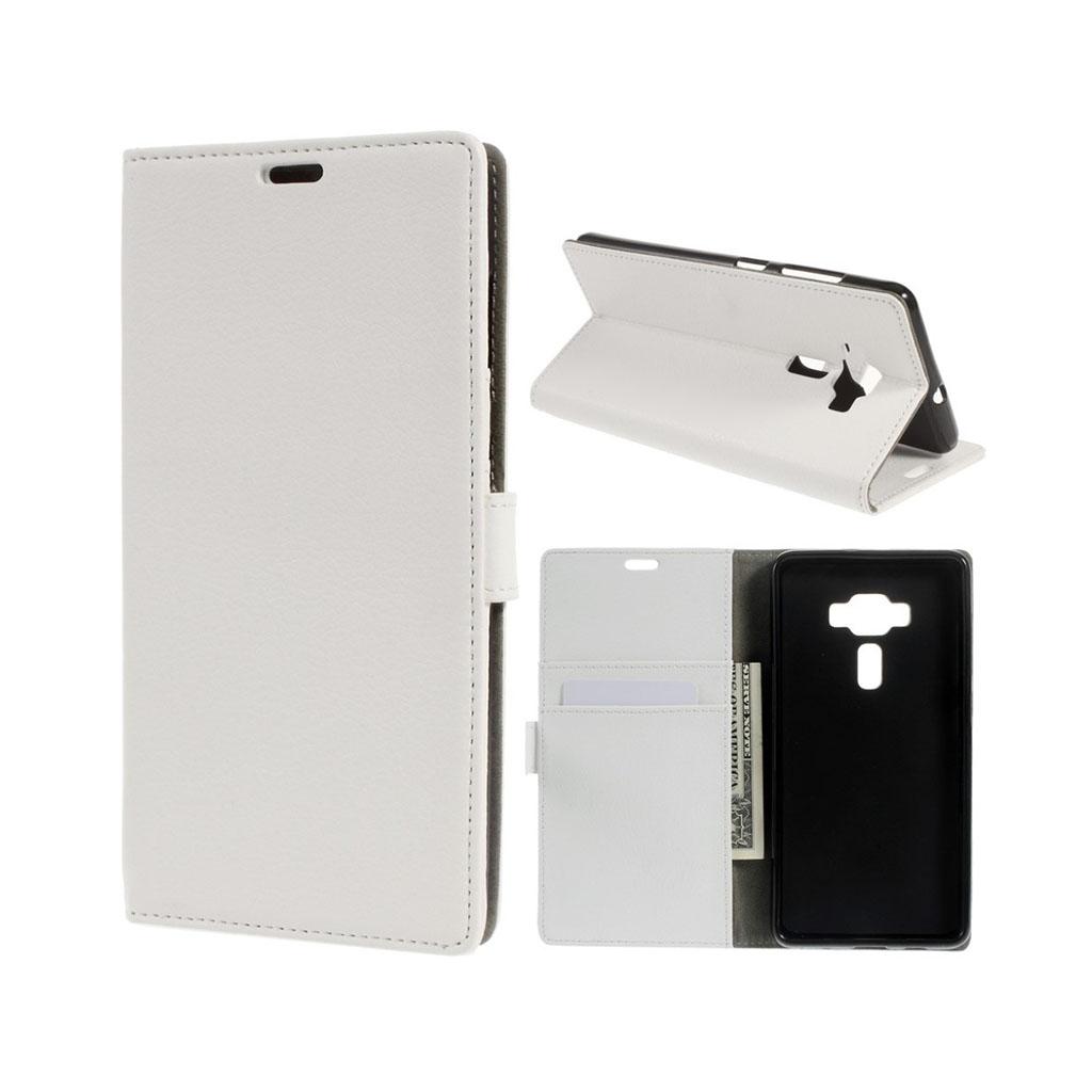 Asus Zenfone Deluxe 3 (ZS570KL) beskyttende læder-etui - Hvid