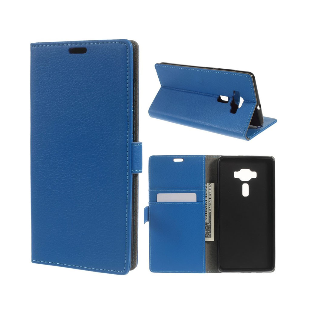 Asus Zenfone Deluxe 3 (ZS570KL) beskyttende læder-etui - Blå