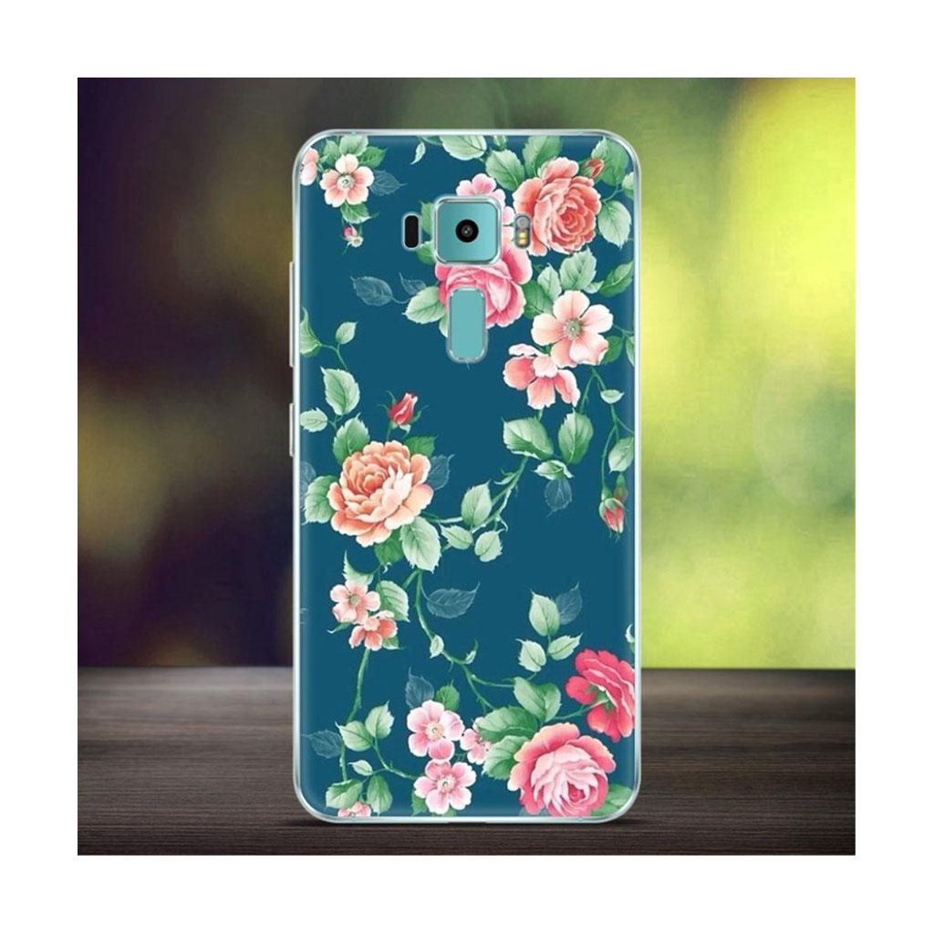 Asus Zenfone 3 Deluxe (ZS570KL) beskyttende silikonecover - Blomstende roser