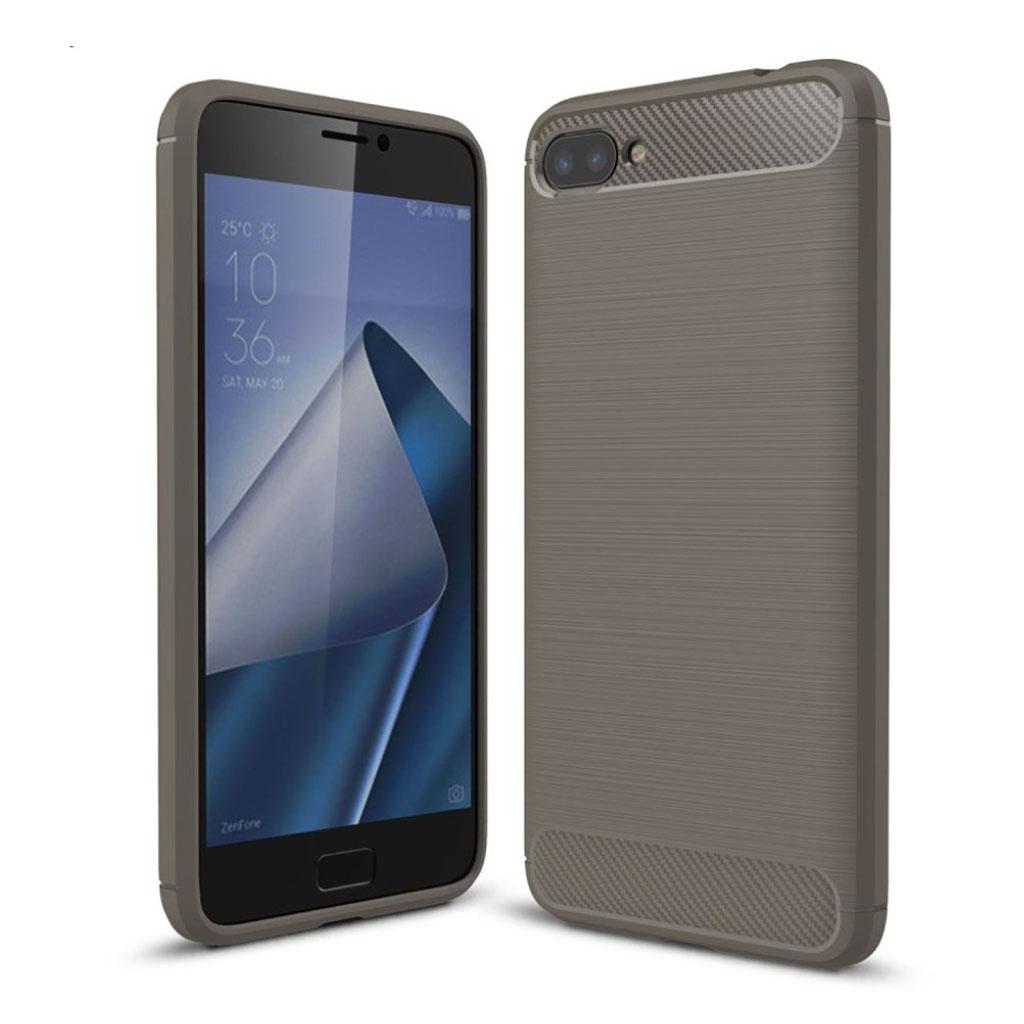 ASUS Zenfone 4 Max 5.5 (ZC554KL) Cover med kulfiber tekstur - Grå