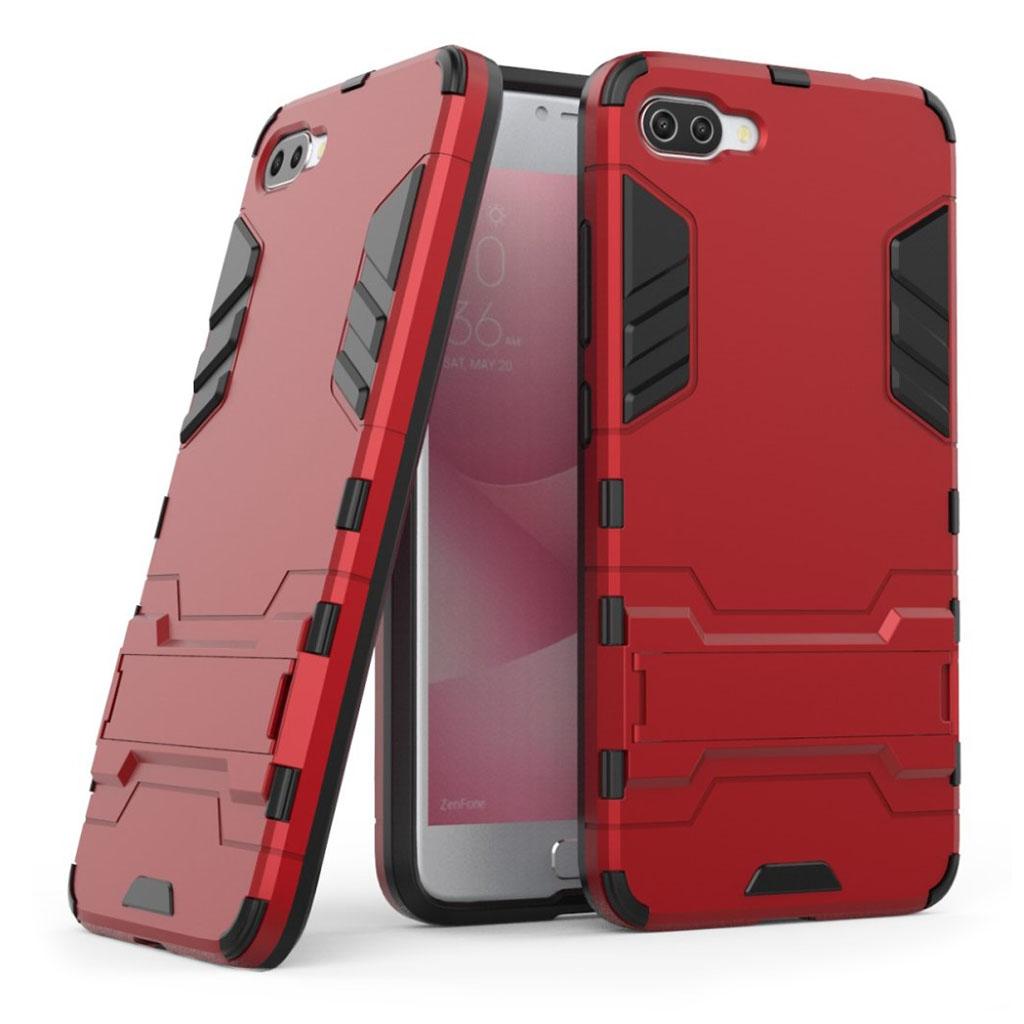 ASUS Zenfone 4 Max 5.5 (ZC554KL) Stødsikker hybridcover - Rød