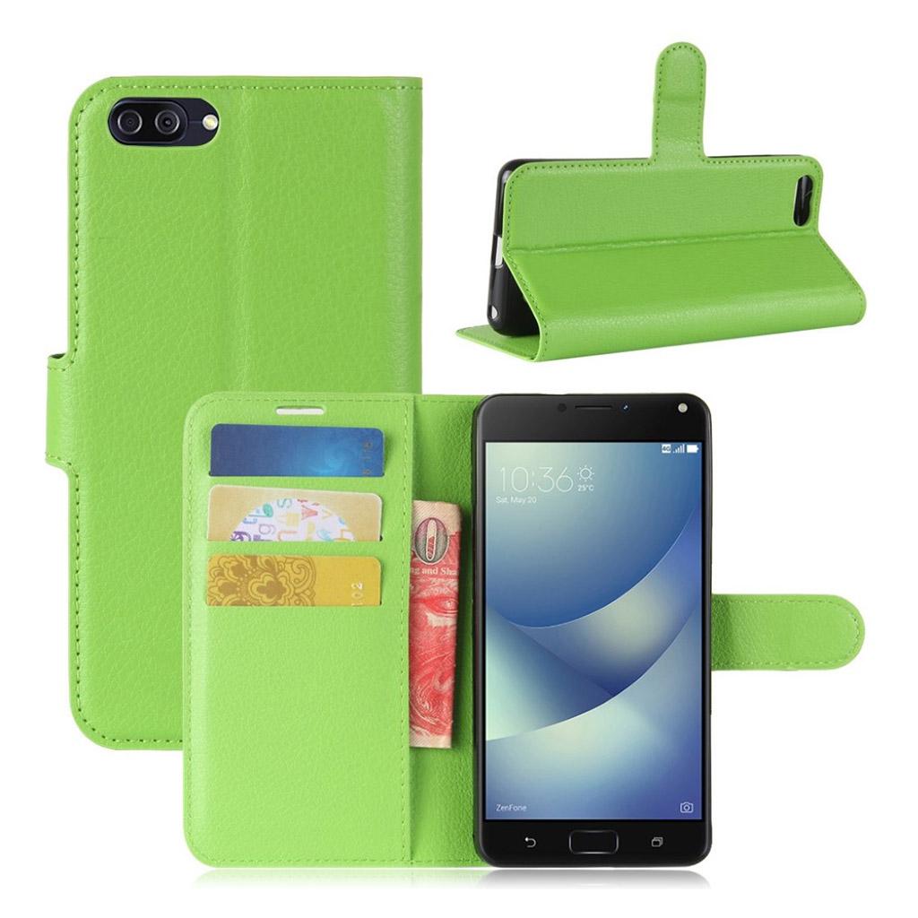 Asus Zenfone 4 Max 5.2 (ZC520KL) litchi texture PU leather flip case - Green